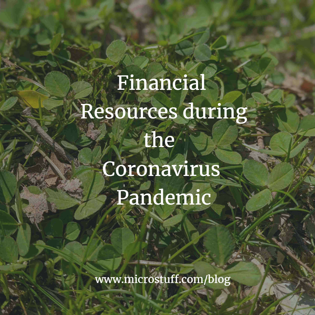 Financial Resources during the Coronavirus Pandemic